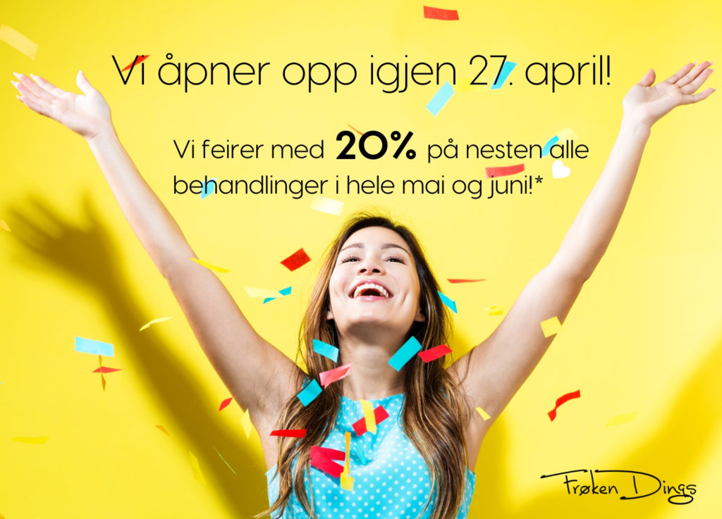 vi åpner opp igjen 27 april